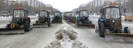 Уборка снега в Одессе.